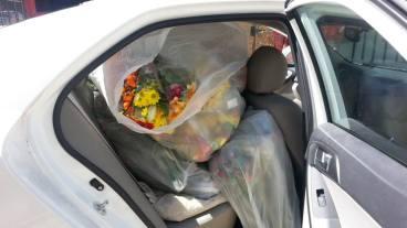 flowers in car 2