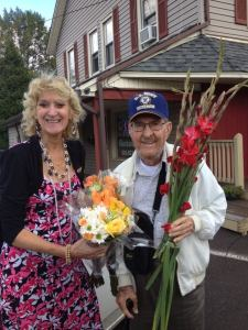 Bob G and me with flowers